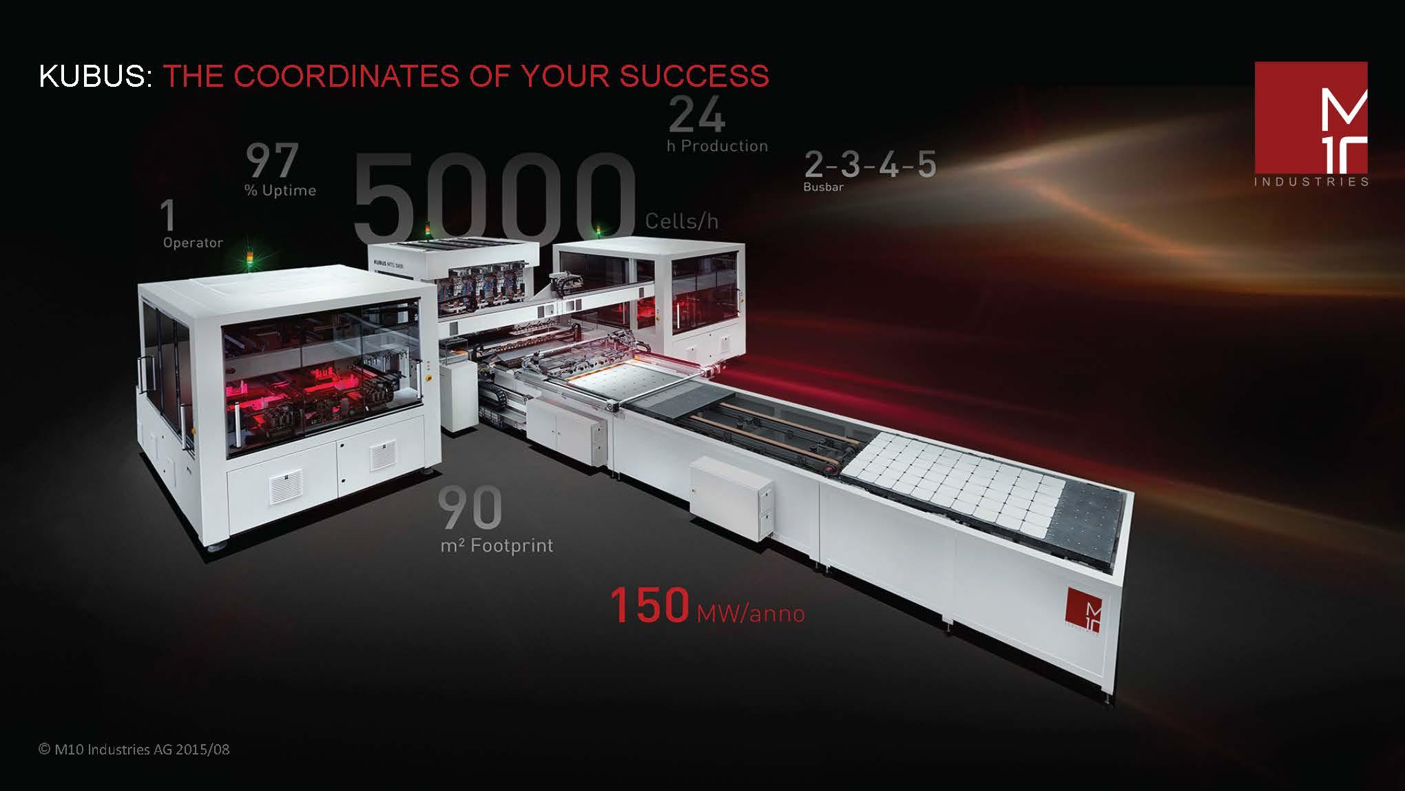 High Capacity Solar Cell Stringer Kubus MTS-5000